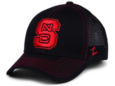 North Carolina State Wolfpack Zephyr NCAA Staple Trucker Blackout Cap