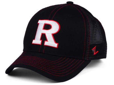 Rutgers Scarlet Knights Zephyr NCAA Staple Trucker Blackout Cap