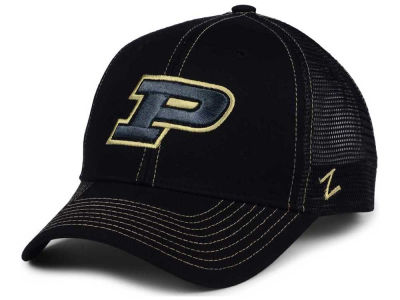 Purdue Boilermakers Zephyr NCAA Staple Trucker Blackout Cap