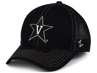 Vanderbilt Commodores Zephyr NCAA Staple Trucker Blackout Cap