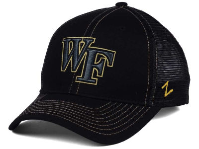 Wake Forest Demon Deacons Zephyr NCAA Staple Trucker Blackout Cap