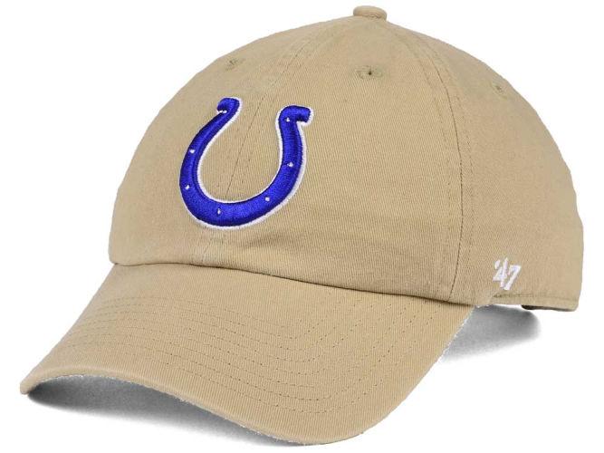 a56a23771f8 Indianapolis Colts NFL Khaki  47 CLEAN UP Cap