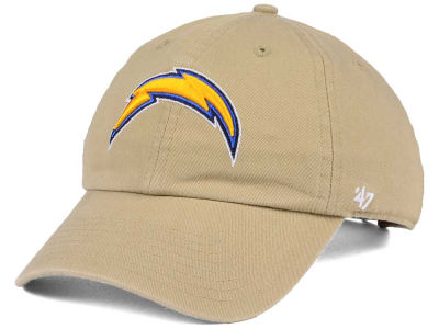 Los Angeles Chargers '47 NFL Khaki '47 CLEAN UP Cap