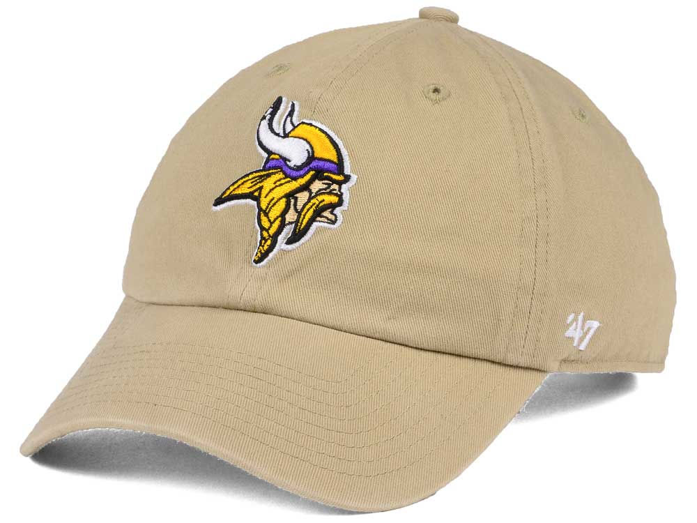 4398a23eccc1c9 ... low price minnesota vikings 47 nfl khaki 47 clean up cap lids 0bfd9  9a97c
