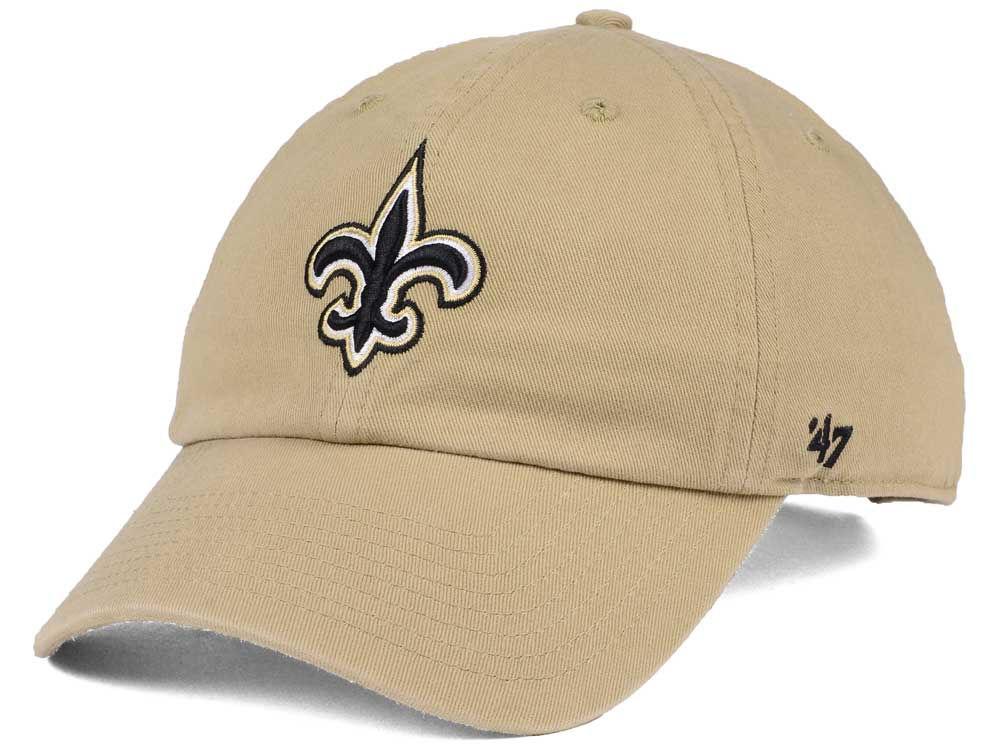New Orleans Saints  47 NFL Khaki  47 CLEAN UP Cap  c9b19ce38