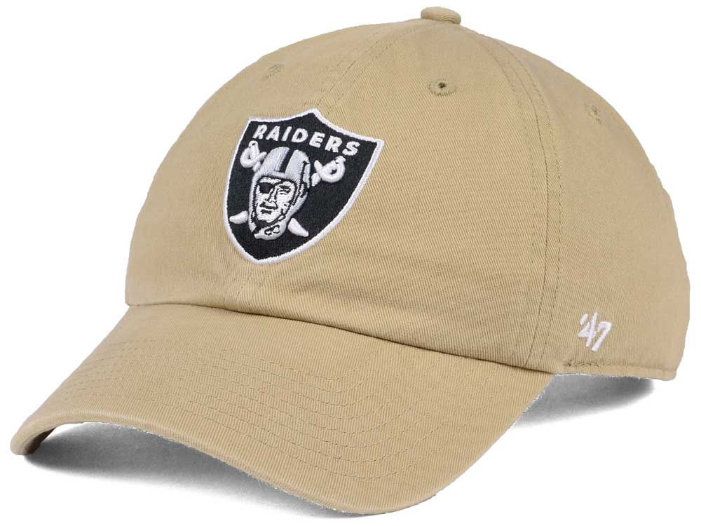Oakland Raiders  47 NFL Khaki  47 CLEAN UP Cap  4a833ff61