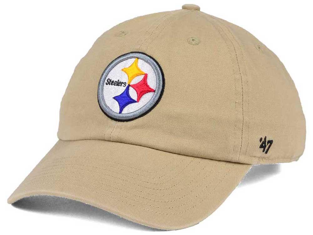 Pittsburgh Steelers  47 NFL Khaki  47 CLEAN UP Cap  0483d126d