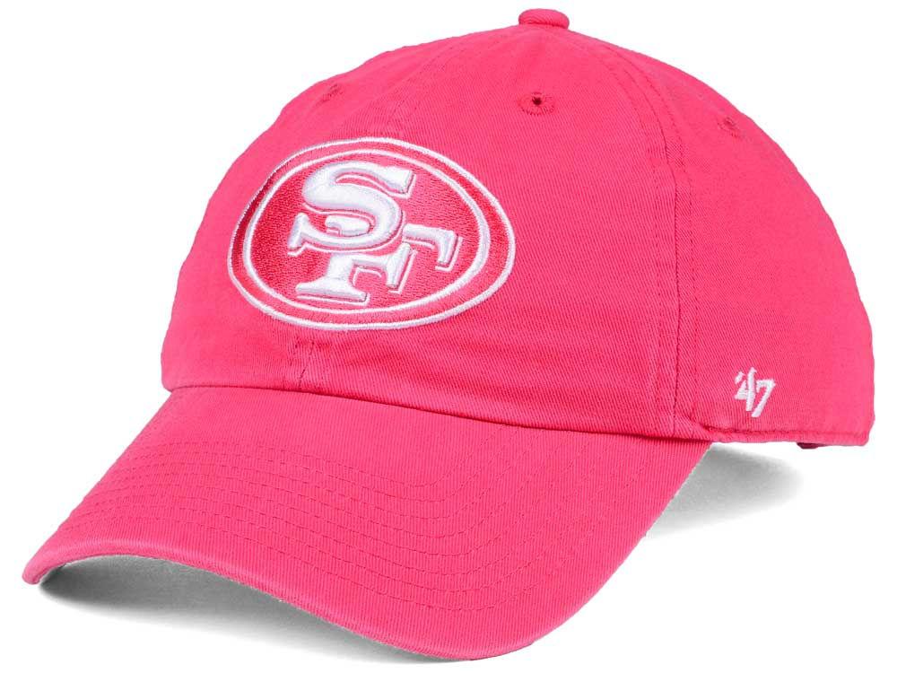 newest 9b691 35b29 switzerland san francisco 49ers 47 nfl womens pastel clean up cap f6b2a  134c0