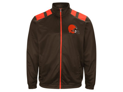 Cleveland Browns G-III Sports NFL Men's Broad Jump Track Jacket