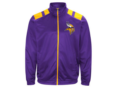 Minnesota Vikings G-III Sports NFL Men's Broad Jump Track Jacket