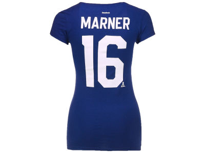 Toronto Maple Leafs Mitch Marner Reebok NHL Women's Player V-Neck T-Shirt