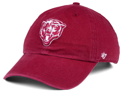 Chicago Bears '47 NFL Cardinal CLEAN UP Cap