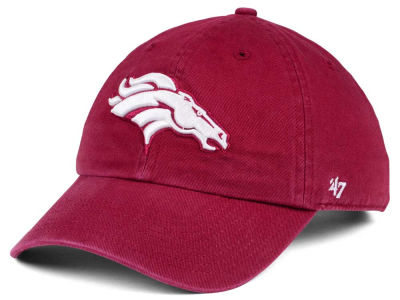 Denver Broncos '47 NFL Cardinal CLEAN UP Cap