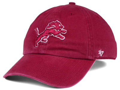 Detroit Lions '47 NFL Cardinal CLEAN UP Cap