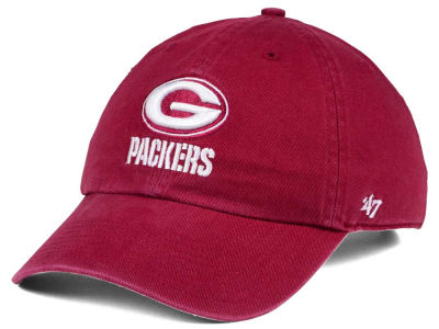 Green Bay Packers '47 NFL Cardinal CLEAN UP Cap