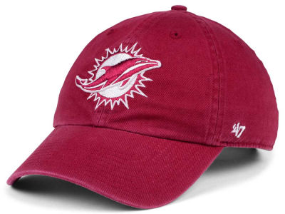 Miami Dolphins '47 NFL Cardinal CLEAN UP Cap