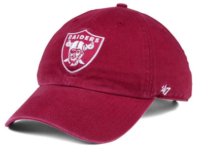 Oakland Raiders '47 NFL Cardinal CLEAN UP Cap