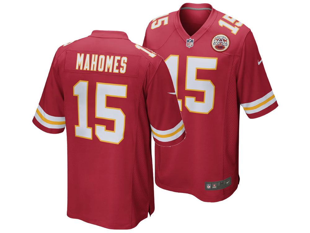 kansas city chiefs pat mahomes nike nfl mens game jersey