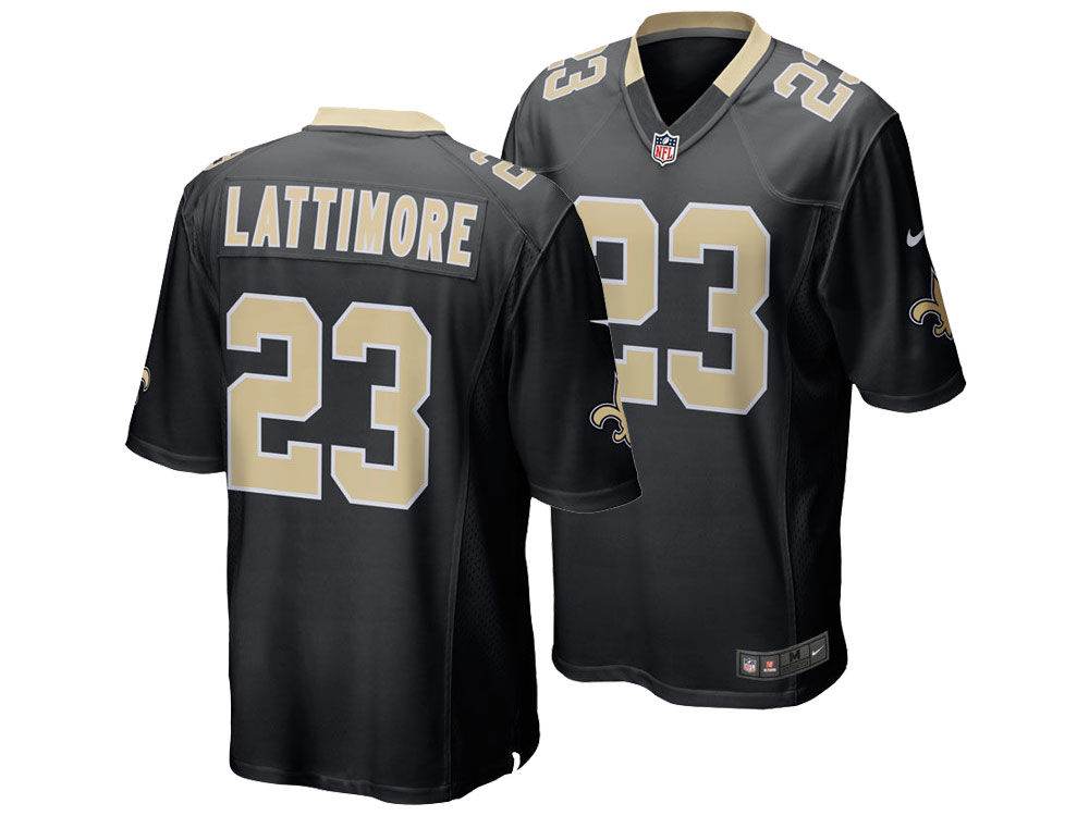 New Orleans Saints Marshon Lattimore Nike NFL Men s Game Jersey ... 00b43adb9