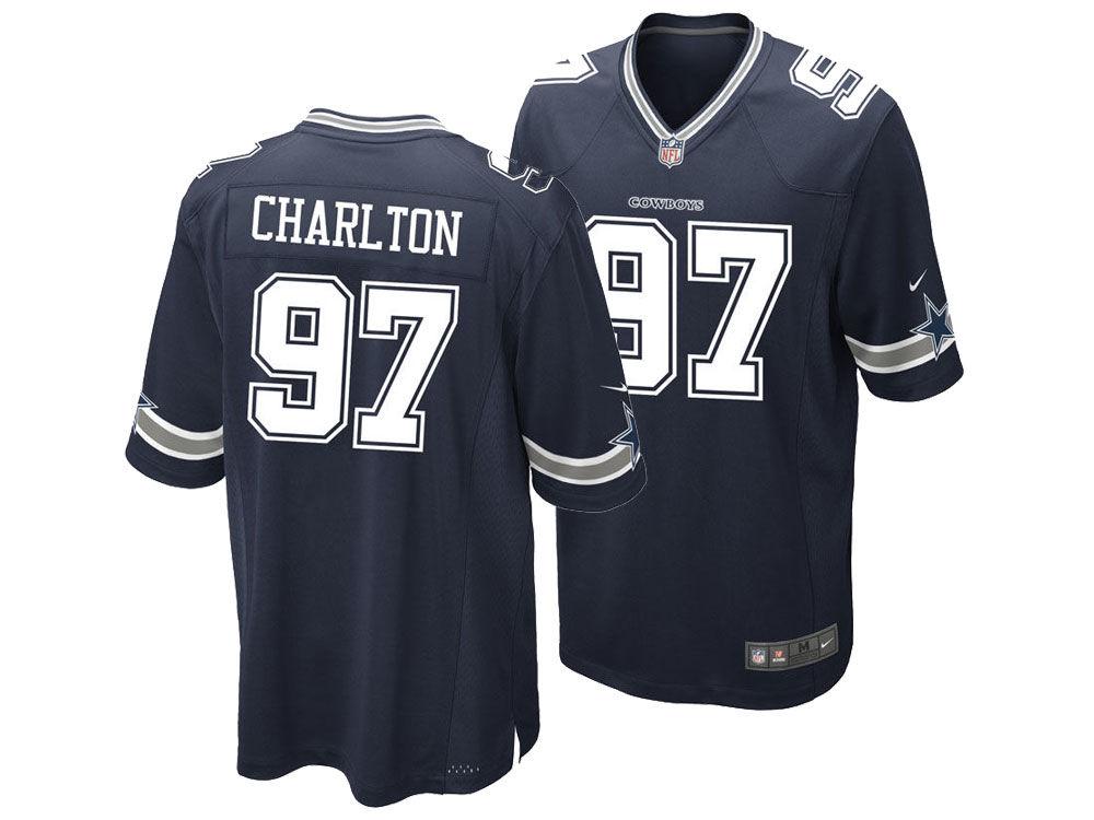 c2a38e8b45c ... Dallas Cowboys Taco Charlton Nike NFL Mens Game Jersey Cowboys Taco  Charlton White ...
