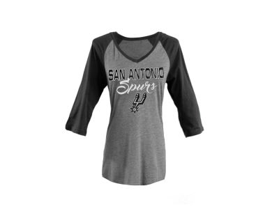 San Antonio Spurs Gameday Couture NBA Women's Brocade Foil Raglan T-shirt