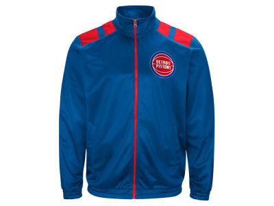 Detroit Pistons G-III Sports NBA Men's Broad Jump Track Jacket