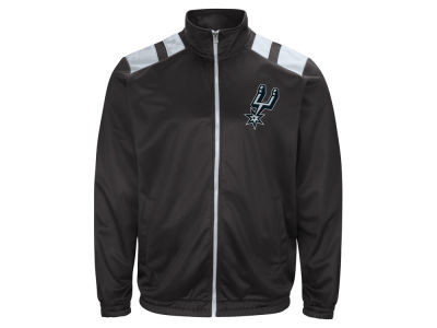 San Antonio Spurs G-III Sports NBA Men's Broad Jump Track Jacket