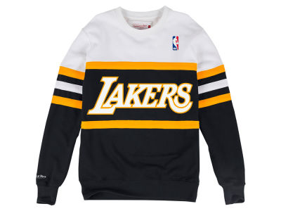 Los Angeles Lakers Mitchell & Ness NBA Men's Head Coach Crew Sweatshirt