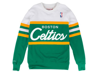 Boston Celtics Mitchell & Ness NBA Men's Head Coach Crew Sweatshirt