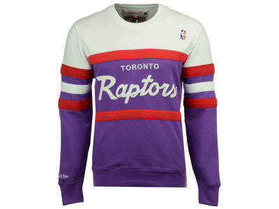 Toronto Raptors Mitchell & Ness NBA Men's Head Coach Crew Sweatshirt