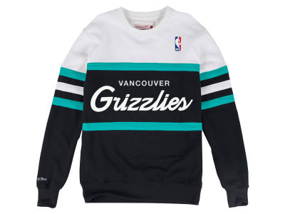 Vancouver Grizzlies Mitchell & Ness NBA Men's Head Coach Crew Sweatshirt