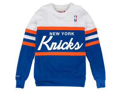 New York Knicks Mitchell & Ness NBA Men's Head Coach Crew Sweatshirt
