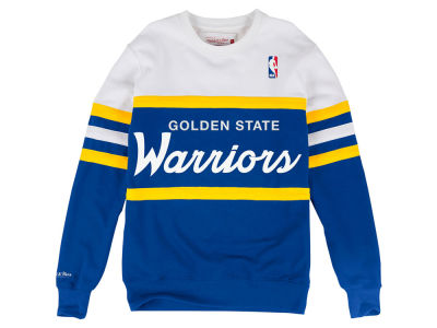 Golden State Warriors Mitchell & Ness NBA Men's Head Coach Crew Sweatshirt