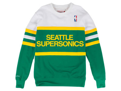 Seattle SuperSonics Mitchell & Ness NBA Men's Head Coach Crew Sweatshirt