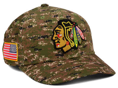 Chicago Blackhawks adidas NHL Camo Structured Flex Cap
