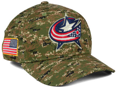 Columbus Blue Jackets adidas NHL Camo Structured Flex Cap