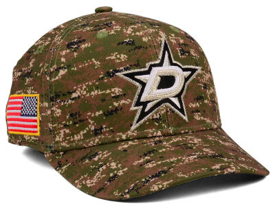 Dallas Stars adidas NHL Camo Structured Flex Cap