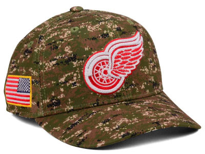 Detroit Red Wings adidas NHL Camo Structured Flex Cap