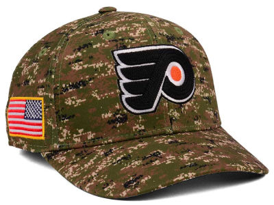 Philadelphia Flyers adidas NHL Camo Structured Flex Cap