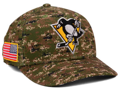 Pittsburgh Penguins adidas NHL Camo Structured Flex Cap