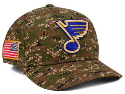 St. Louis Blues adidas NHL Camo Structured Flex Cap