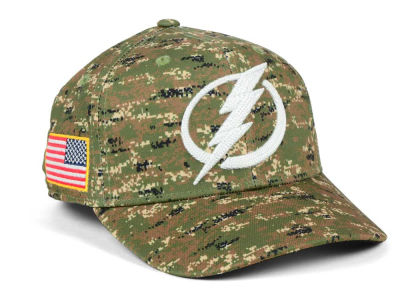 Tampa Bay Lightning adidas NHL Camo Structured Flex Cap