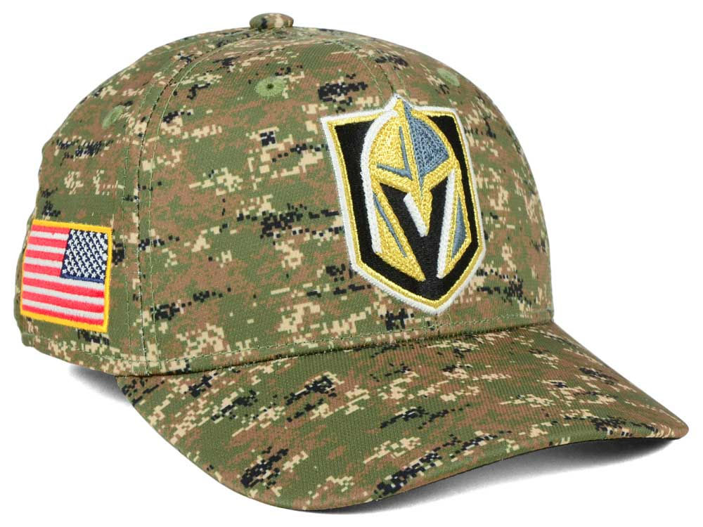 0303d97fc44 Vegas Golden Knights adidas NHL Camo Structured Flex Cap