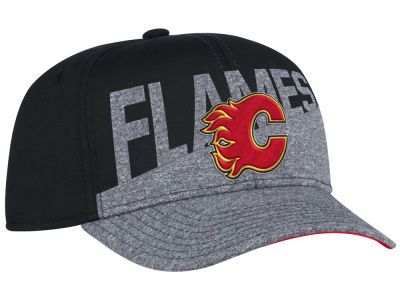 Calgary Flames adidas NHL Slashing Adjustable Cap