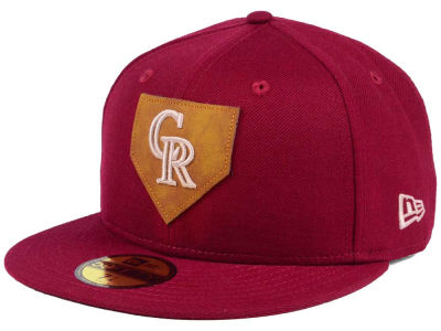 Colorado Rockies New Era MLB The Logo of Leather 59FIFTY Cap