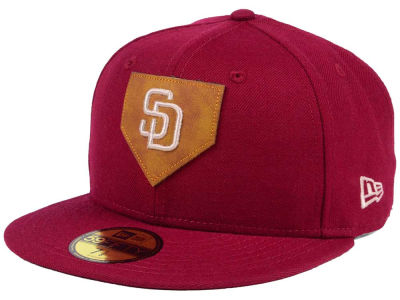 San Diego Padres New Era MLB The Logo of Leather 59FIFTY Cap