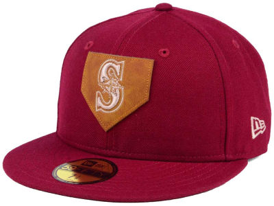 Seattle Mariners New Era MLB The Logo of Leather 59FIFTY Cap