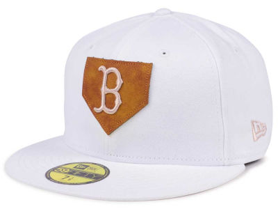 Boston Red Sox New Era MLB The Logo of Leather 59FIFTY Cap