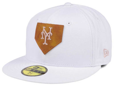 New York Mets New Era MLB The Logo of Leather 59FIFTY Cap