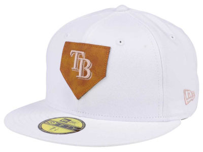 Tampa Bay Rays New Era MLB The Logo of Leather 59FIFTY Cap